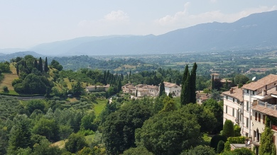 One of the picturesque views from Asolo.